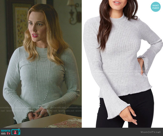 Iona Sweater by Paige worn by Joy Harper (Katherine Barrell) on Good Witch