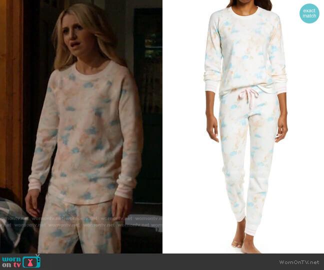 PJ Salvage Thermal Print Pajamas worn by Gina Dabrowski (Annaleigh Ashford) on B Positive