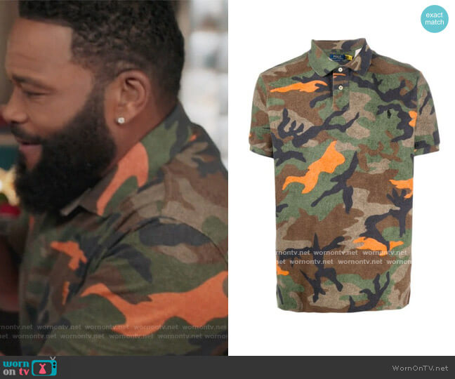Camouflage Print Polo Shirt by Polo Ralph Lauren worn by Andre Johnson (Anthony Anderson) on Blackish