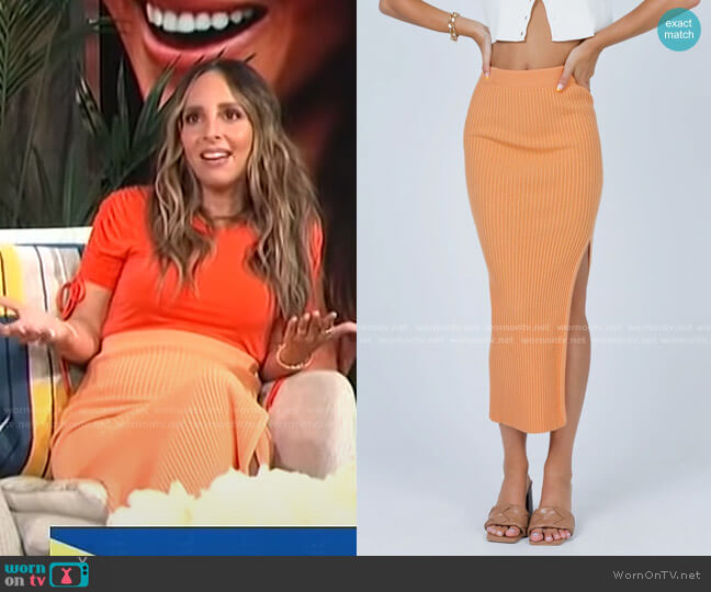 Tanna Midi Skirt by Princess Polly worn by Lilliana Vazquez  on E! News