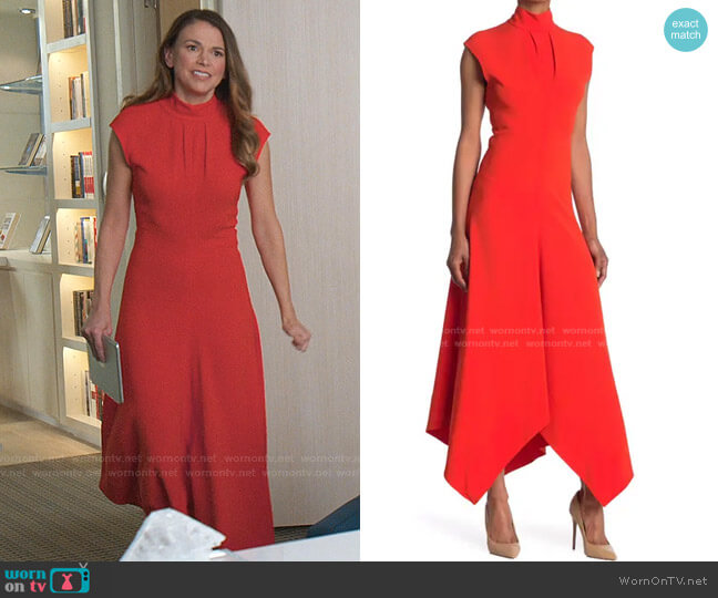 Mock Neck Crepe Maxi Dress by Proenza Schouler worn by Liza Miller (Sutton Foster) on Younger