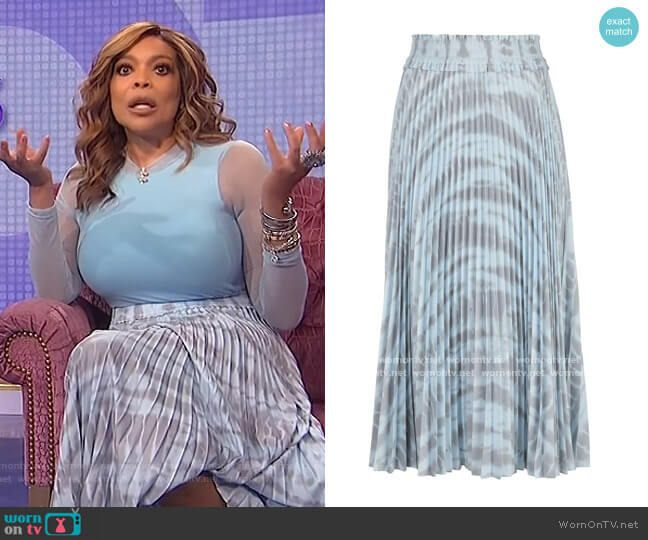 Pleated Tie-dye Skirt by Proenza Schouler worn by Wendy Williams  on The Wendy Williams Show