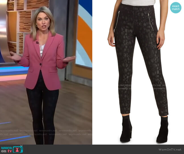 Simone Leopard Leggings by Rag & Bone worn by Amy Robach  on Good Morning America