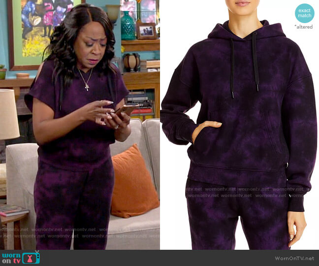 Rag & Bone City Tie Dye Hooded Sweatshirt worn by Tina (Tichina Arnold) on The Neighborhood