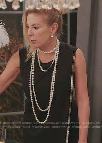 Luann's black mesh cropped top on The Real Housewives of New York City
