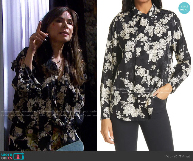 Gabrielle Blouse by Rebecca Taylor worn by Kate Roberts (Lauren Koslow) on Days of our Lives