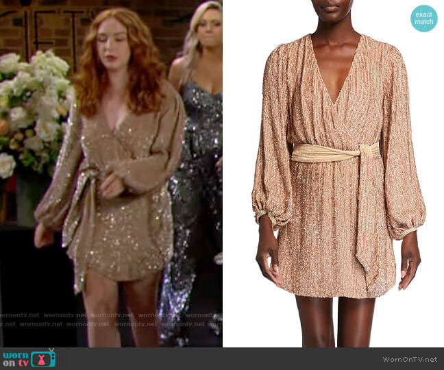 Retrofete Julie Dress worn by Mariah Copeland (Camryn Grimes) on The Young & the Restless