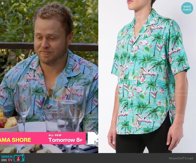 Rhude Flamingo Shirt worn by Spencer Pratt  on The Hills New Beginnings