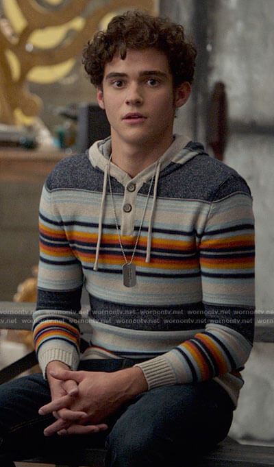 Ricky's striped hoodie on High School Musical The Musical The Series