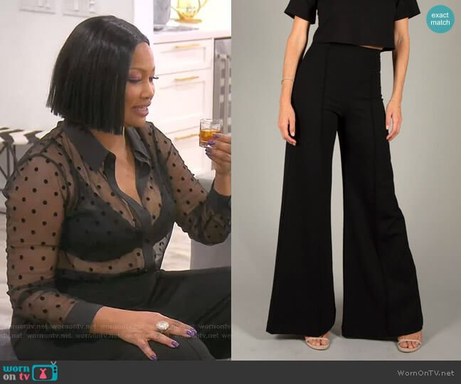 Ponte Knit Wide Leg Pant by Ripley Rader worn by Garcelle Beauvais  on The Real Housewives of Beverly Hills