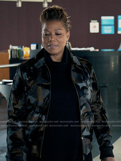 Robyn's pegasus camouflage jacket on The Equalizer