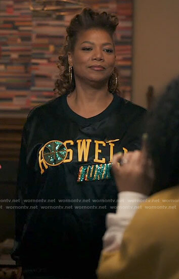 Robyn's Roswell Funk pullover on The Equalizer