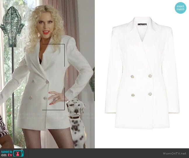 Fonda Blazer Dress by Rotate worn by Alexis Carrington (Elaine Hendrix) on Dynasty