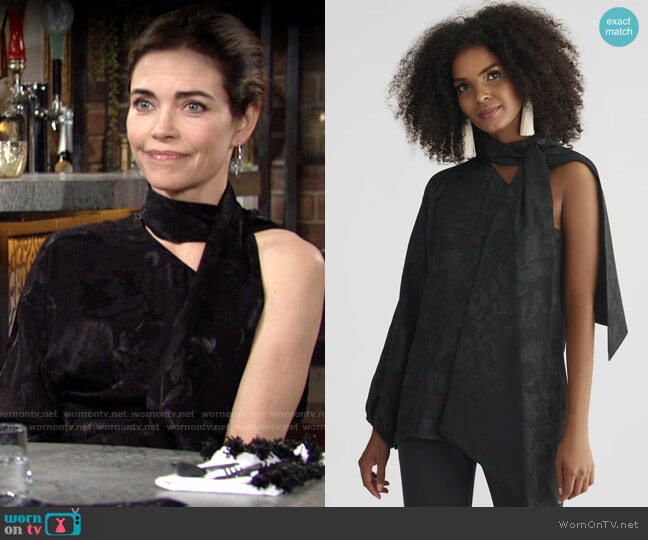 Sachin + Babi Jodi Blouse worn by Victoria Newman (Amelia Heinle) on The Young & the Restless