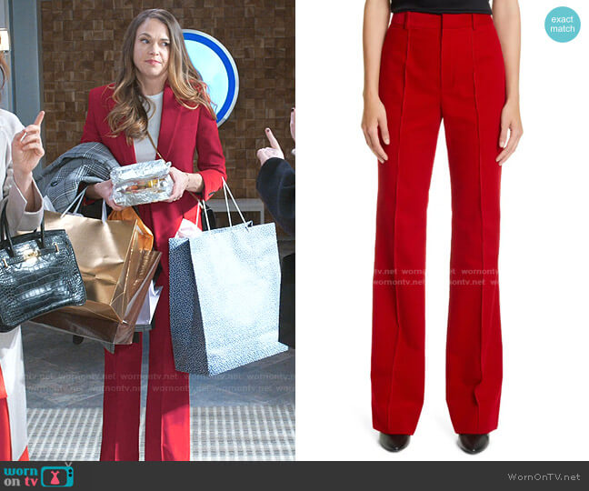 Wide Leg Corduroy Pants by Saint Laurent worn by Liza Miller (Sutton Foster) on Younger