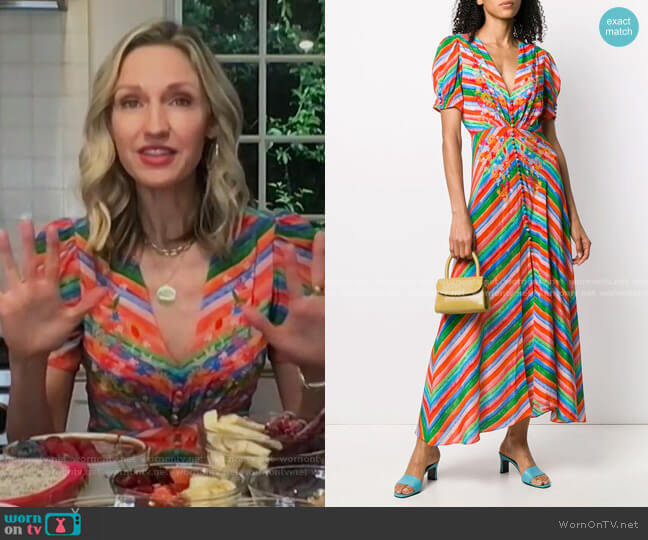 Lea Dress by Saloni worn by Catherine McCord on Today