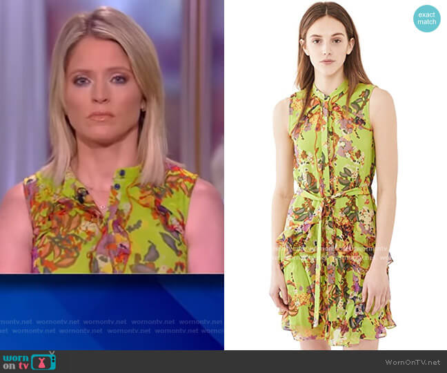 Tilly Ruffle-B Dress by Saloni worn by Sara Haines  on The View