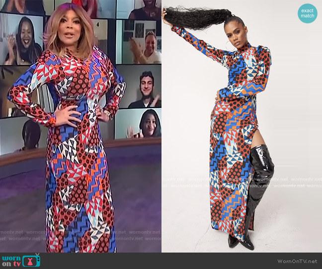 Jade Geo Dress by Sammy B worn by Wendy Williams  on The Wendy Williams Show
