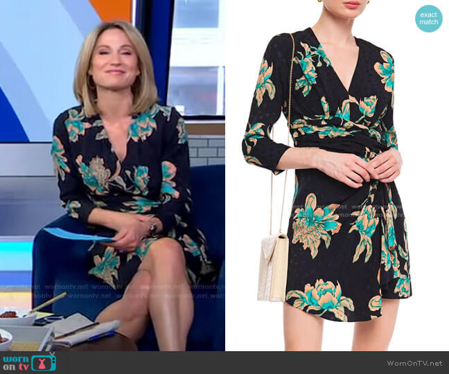 Bruni Mini Dress by Sandro worn by Amy Robach  on Good Morning America