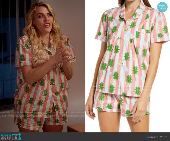 Sant and Abel x Gray Malin Women's Marlin Short Pajamas worn by Summer Dutkowsky (Busy Philipps) on Girls5eva