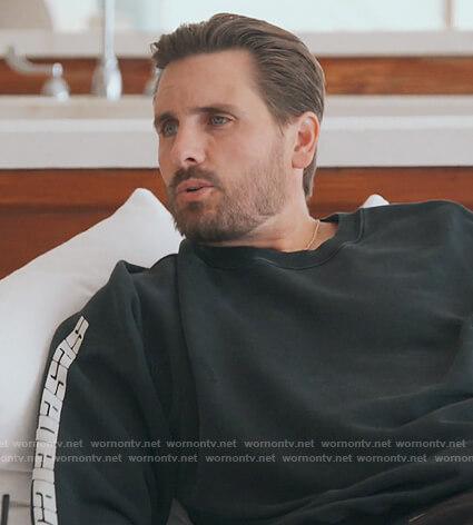Scott's black calabasas sweatshirt on Keeping Up with the Kardashians