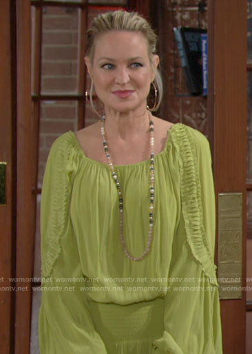 Sharon's lime green dress on The Young and the Restless