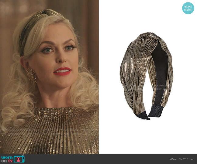 Sasha Headband by Shashi worn by Alexis Carrington (Elaine Hendrix) on Dynasty