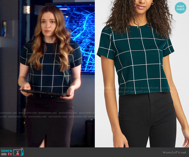 Simons Twik Soft jacquard tee worn by Caitlin Snow (Danielle Panabaker) on The Flash