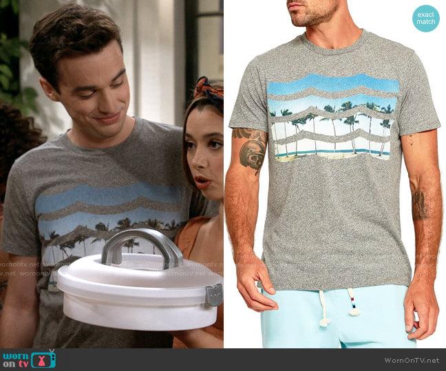 Sol Angeles Summer Daze Waves T-Shirt worn by Freddie Raine (Joey Bragg) on Call Your Mother