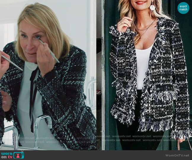 Kelsey Cardigan Jacket by Sonja worn by Sonja Morgan  on The Real Housewives of New York City