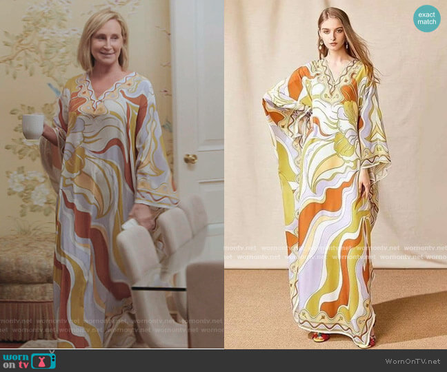 Floral Maxi Kaftan Dress by Sonja Morgan worn by Sonja Morgan  on The Real Housewives of New York City