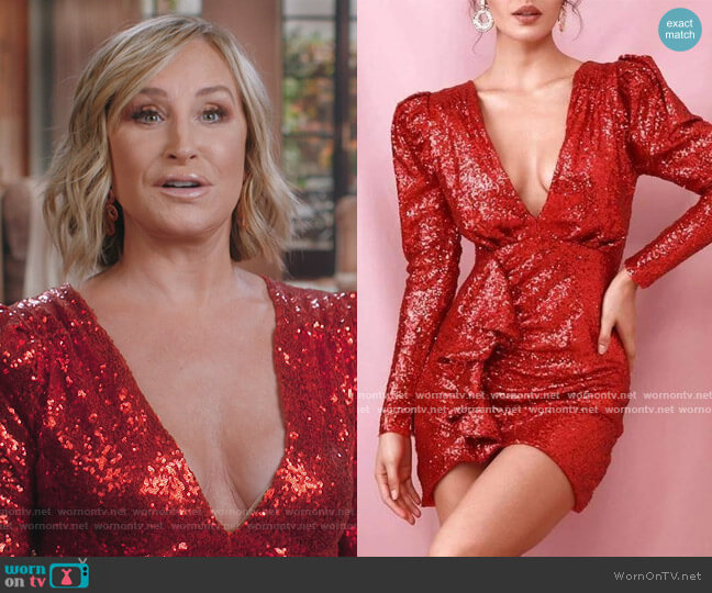 High Voltage Mini Dress by Sonja Morgan worn by Sonja Morgan  on The Real Housewives of New York City
