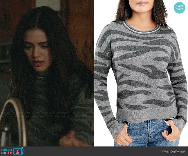 Zebra Ridge Sweater by Splendid worn by Olive Stone (Luna Blaise) on Manifest
