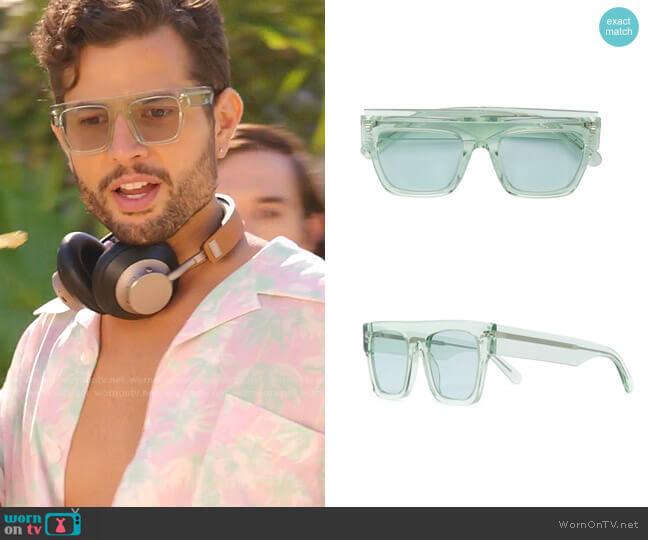 Icy Ice Sunglasses by Stella McCartney worn by Sam Flores (Rafael de la Fuente) on Dynasty