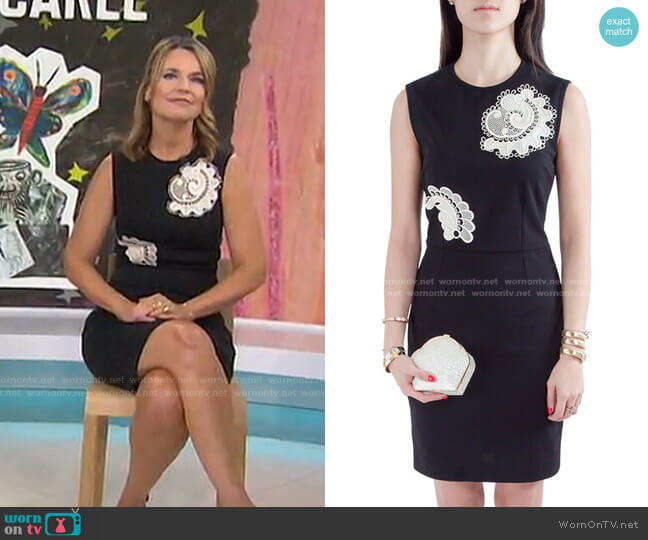 Cotton Applique Detail Sleeveless Pencil Dress by Stella McCartney worn by Savannah Guthrie  on Today