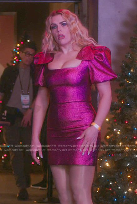 Summer's pink Jingle Ball dress on Girls5eva