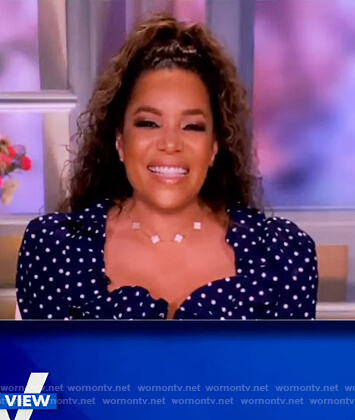 Sunny's blue polka dot blouse on The View