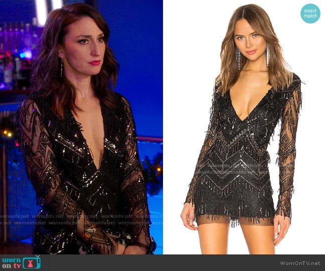 Superdown Nia Sequin Fringe Dress worn by Dawn Solano (Sara Bareilles) on Girls5eva