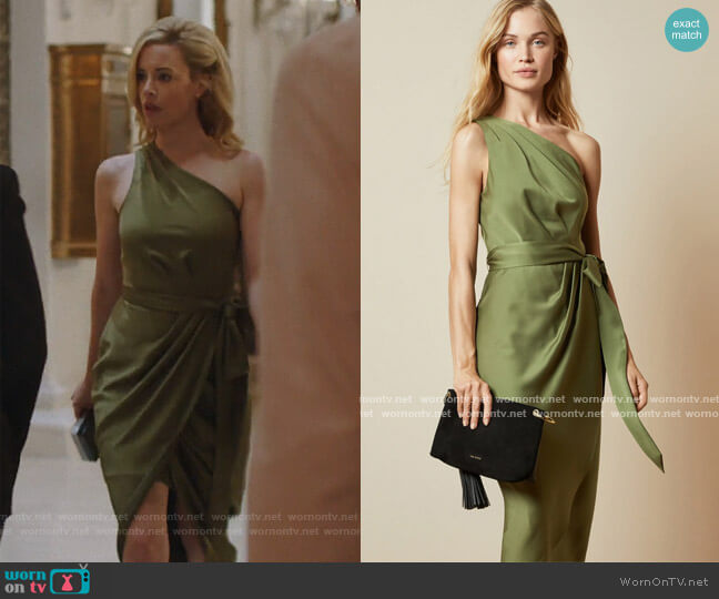 Gabie Dress by Ted Baker worn by Kelly Anne Van Awken (Molly Burnett) on Queen of the South
