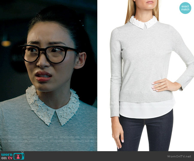 Ted Baker Zoilaa Sweater worn by Swan on Charmed