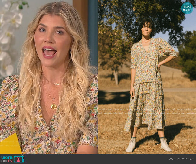 The Yonder Dress by The Great worn by Amanda Kloots  on The Talk