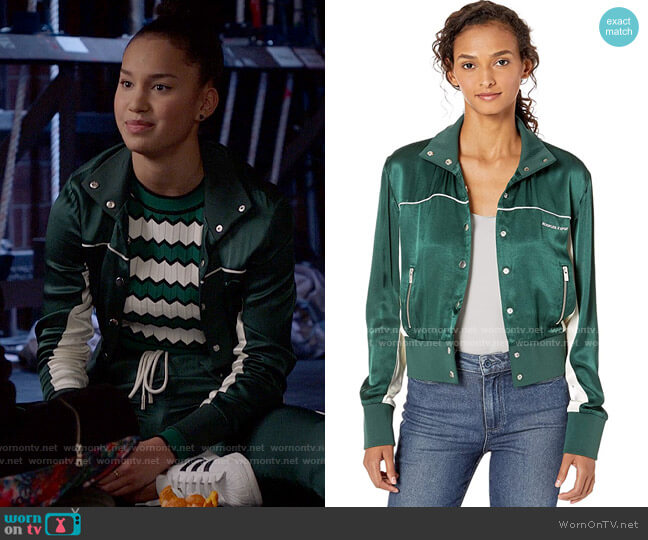 The Kooples Cropped Track Jacket worn by Gina (Sofia Wylie) on High School Musical The Musical The Series