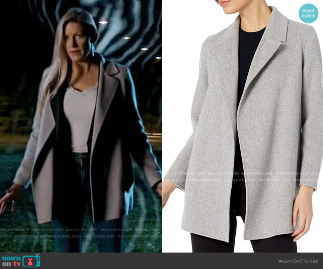 Theory Clairene Coat worn by Ava Sharpe (Jes Macallan) on Legends of Tomorrow