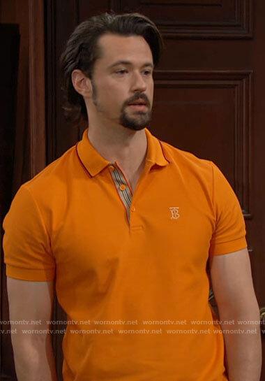 Thomas's orange polo shirt on The Bold and the Beautiful