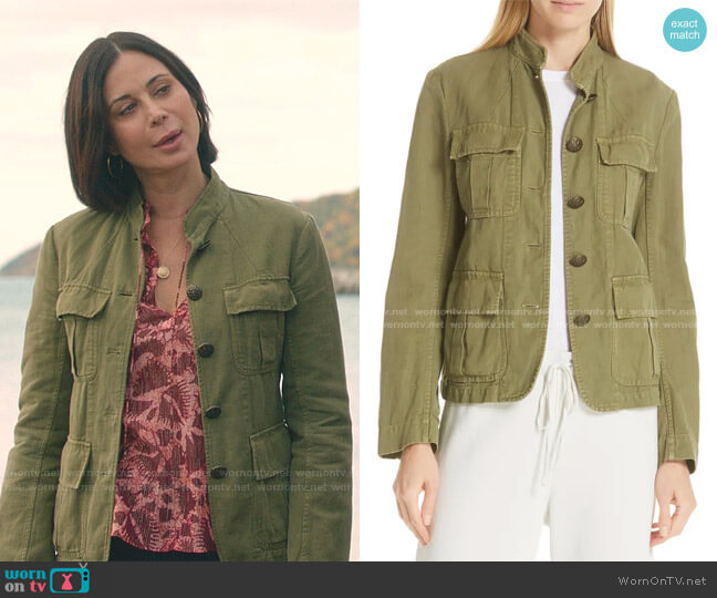 Cambre Jacket by Nili Lotan worn by Cassandra Nightingale (Catherine Bell) on Good Witch