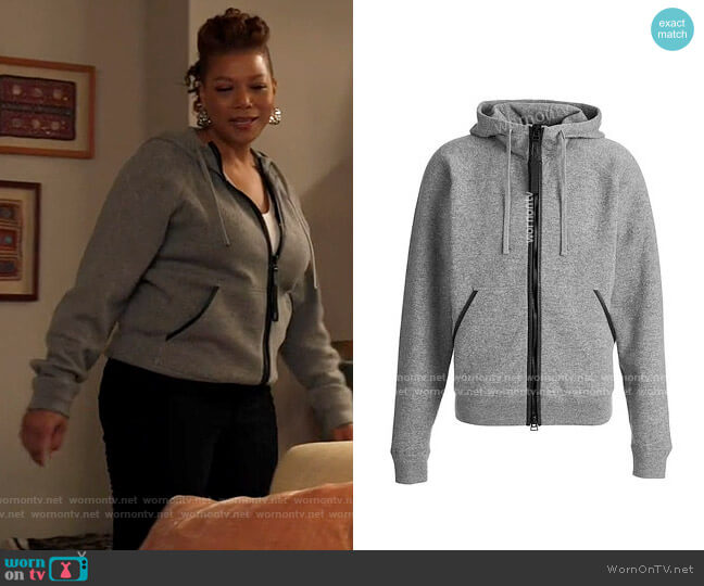 Tom Ford Cashmere Hood Zip Through Knit worn by Robyn McCall (Queen Latifah) on The Equalizer