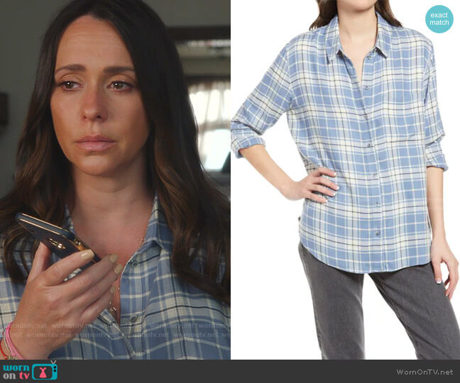 Plaid Boyfriend Shirt by Treasure & Bond worn by Maddie Kendall (Jennifer Love Hewitt) on 9-1-1