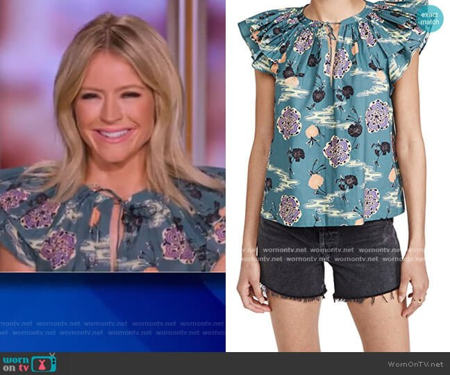 Elia Top by Ulla Johnson worn by Sara Haines  on The View