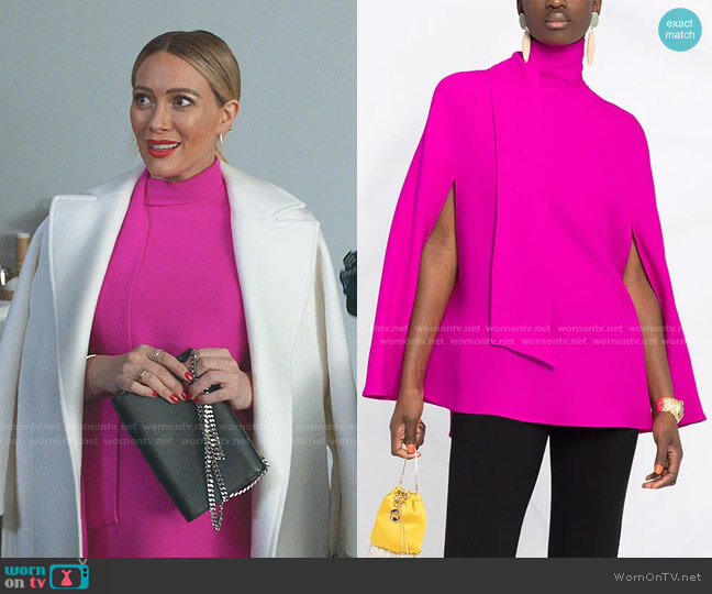 Cady Couture Cape Top by Valentino worn by Kelsey Peters (Hilary Duff) on Younger