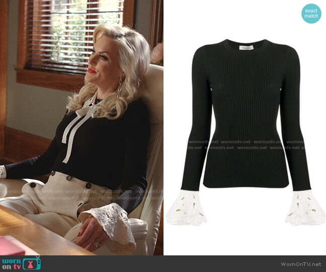 Flared Cuff Jumper by Valentino worn by Alexis Carrington (Elaine Hendrix) on Dynasty